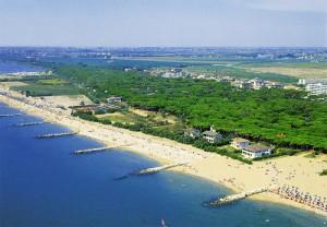 La spiaggia e la pineta di Eraclea mare
