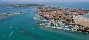 Veduta aerea della laguna di Grado