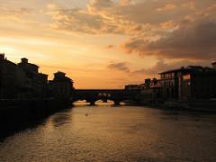 Ponte Vecchio tramonto